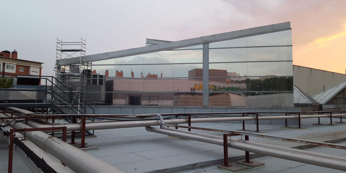 Instalación de láminas solares